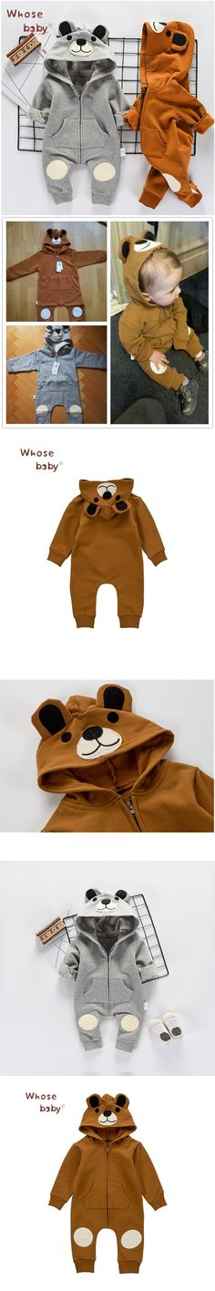 2017 Autumn Baby Girl Clothes Newborn Boys Romper Cute Bear Clothes For Children Infant Girls Jump Suit Baby Boy Body Suits https://presentbaby.com
