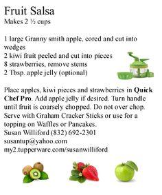 Tupperware Fruit Salsa