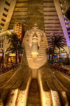 Luxor Statue - Las Vegas oh boy very big inside our hotel tip stand on balcony  you get stunning pictures