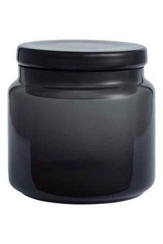 grey glass jar - Google Search