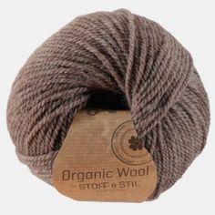 Garn organic wool brun
