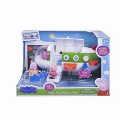 Action Figure Vehicles - Peppa Pig Holiday Time Air Jet Playset With Peppa Figure Accessory *** Check out this great product. Toddler Christmas Gifts, Toddler Boy Gifts, Little Girl Toys, Toys For Girls, Kids Store, Toy Store, Peppa Pig Treehouse, Peppa Pig Holiday, Frozen Cupcake Toppers