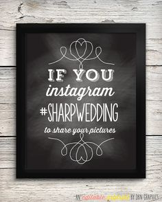 Wedding Signage /// Instagram /// Vintage by DBNGraphics on Etsy, $8.00