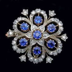 Antique Victorian Pendant and Brooch in One Diamond Sapphire Gold Silver ( Antique Brooches, Antique Rings, Antique Jewelry, Vintage Jewelry, Victorian Jewelry, Victorian Era, Silver Brooch, Selling Jewelry, Jewelry Stores