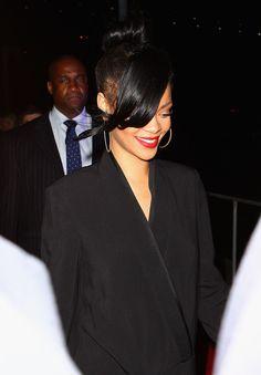 Rihanna arrives for the 'Battleship' Australian Premiere at Luna Park on April 10, 2012 in Sydney, Australia.