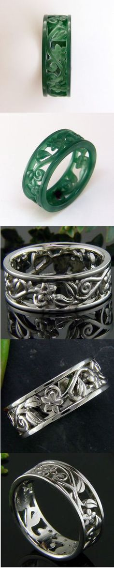 Superior design and craftsmanship - #GreenLakeJewelry  hand carves custom bands like these as a wax model before casting and polishing...#Ido