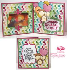 DC01 - Frances Byrne using the Katherine Label Pop-up, Word Set #2 and Gift Card Label die sets from karenburniston.com