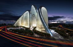 Zaha Hadid  SOHO Wangjing Peking, China #modern #architecture