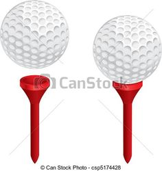 Free Golf Logos Clip Art | Tee - A white golf ball on a red golf tee csp5174428 - Search Clip Art ...