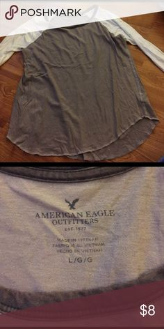 American eagle baseball tee Super soft. Worn a handful of times. Says Large on the tag but fits like a medium American Eagle Outfitters Tops