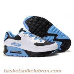 Hommes Nike Air Max 90 Noir / Bleu / Blanc Air Max Femme Vente
