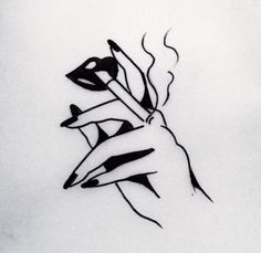 Smoking tatoo