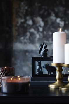 Set the scene this fall with spooky Halloween décor with our collection of IKEA candles and candleholders. The ERSÄTTA block candle holder makes the perfect piece for your fall tablescape, by combining several of them in different sizes!