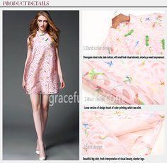 2016 Sweet Delicate Short Sleeve Printing Doll Dress