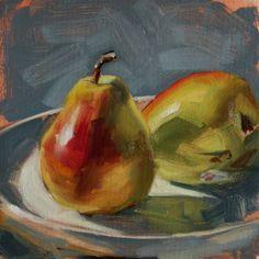 Original Oil Painting: Pears in Sun