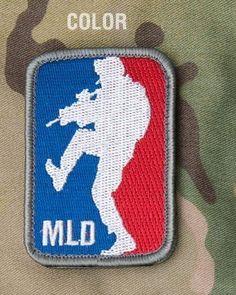 Mil-Spec Monkey Major League Doorkicker Embroidered Morale Patch Hook Fastener