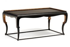 Chapman Cocktail Finish Shown: Tetre Negre w/ Hand Painted Gold Standard Dimensions Width: Depth: Height: Tea Table Design, Coffee Table To Dining Table, Wood Table, Resource Furniture, Table Shelves, Chinese Furniture, Center Table, Classic Furniture, Cocktail Tables