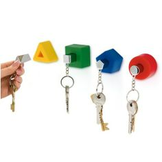j-me SHAPES KEYHOLDERS - COLOURS | Giftzoo.ca Canada's Online Gift Shop