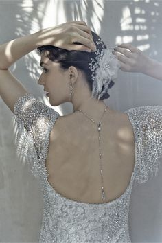 Pearly Back Drape Necklace from BHLDN