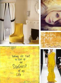 sunshine yellow mood board