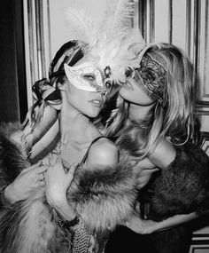Life's a ball, and today is a masquerade. Vogue anniversary party in Paris. With Maryna Linchuk and Sasha Pivovarova Sasha Pivovarova, Eyes Wide Shut, Lace Mask, Masquerade Party, Halloween Masquerade, Masquerade Masks, Halloween Party, Halloween Inspo, Retro Halloween