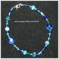 Perlen Mix Armband in blau von Carpe diem create auf DaWanda.com