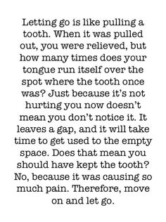 Just because you miss it doesn't mean it shouldn't be gone...