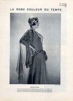 Jeanne Lanvin 1930 Evening Gown Jaquette & Béguin Photo Scaioni  #TuscanyAgriturismoGiratola