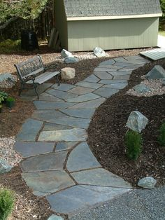 find this pin and more on wonderful walkways - Flagstone Walkway Design Ideas