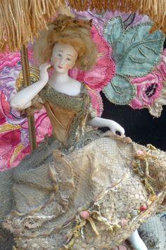 Dressel Kister RARE Antique Half Doll Boudoir Doll Ladie Edwardian C 1900 | eBay