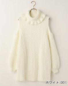 LIZ LISA Open-shoulder Sweater OP Dress Sweet street Lolita Kawaii Japan #LizLisa #PeplumTunic #Shibuya109fashion