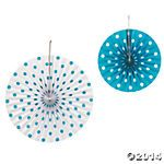 teal paper fans for accessory tables backdrops