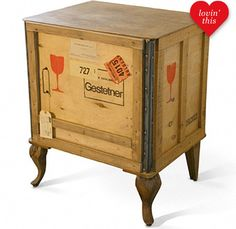 find yourself a great crate, add some gorgeous legs, add some stamps or paint and distress it.  LOVE LOVE LOVE.......D.