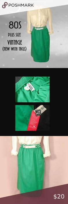 I just added this listing on Poshmark: Plus Size Vintage Green Skirt with Belt. Plus Size Vintage, Kelly Green, Vintage Green, Size 16, Vintage Dresses, Elastic Waist, Vintage Ladies, Ballet Skirt, Belt