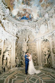 The Bride & Groom under a painted ceiling. Groomswear by Louis Copeland & Sons. Photography by: Ros from Couple Photography. Wedding Blog, Wedding Photos, Real Weddings, Destination Weddings, Romantic Photos, Wedding Couples, Couple Photography, Trip Planning, Bride Groom