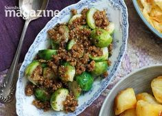 Sprouts with chestnut crumble