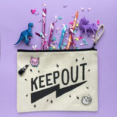 Keep out canvas pouch.