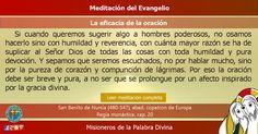 """MISIONEROS DE LA PALABRA DIVINA: MEDITACIÓN DEL EVANGELIO - """"La eficacia de la orac..."""