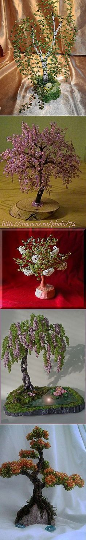 Деревья из бисера: