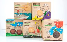 Package design biscuits Marc