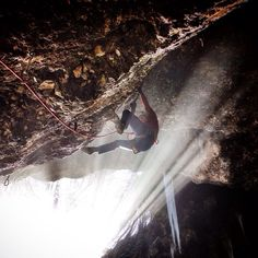 Forging another day on a drytooling project in the cave - big fun today in the Dryland, Innsbruck.