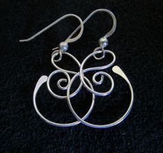 Small Free Form Sterling Silver Earrings by SilverDawnJewelry