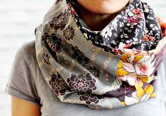 Put those leftover fabric scraps to good use with a fun print mashup cowl.