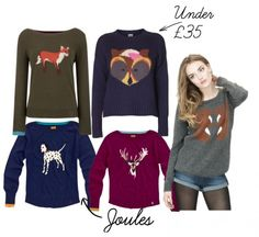 animal jumpers sweaters cute fox deer dalmation squirrel