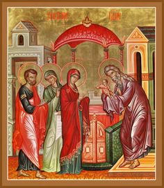 The Presentation (Meeting) of the Lord in the Temple – Damascene Gallery Temple, Paint Icon, Russian Icons, Byzantine Icons, Holy Cross, Orthodox Icons, A Christmas Story, Kirchen, Christianity