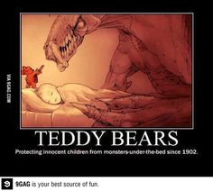 Funny pictures about Teddy Bears Are Always There To Protect Us. Oh, and cool pics about Teddy Bears Are Always There To Protect Us. Also, Teddy Bears Are Always There To Protect Us photos. Cute Comics, Funny Comics, Stupid Funny Memes, Funny Relatable Memes, Funniest Jokes, Really Funny, Funny Cute, Funny Animals, Cute Animals