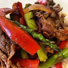 Sweet Chili Steak Stir Fry  Ingredients 8 oz. sliced thin sirloin 1-tablespoon olive oil 1 tablespoon minced garlic 1 large red bell pepper ⅓ cup sliced red onion 2 cups of Asparagus 1-tablespoon low sodium soy sauce 1-teaspoon vinegar or squeezed lime 2 tbsp. of sweet chili sauce (store bought) Instructions Add ¼...Read More »