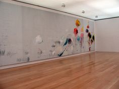 """Cy Twombly, """"Untitled Painting [Say Goodbye Catallus, to the Shores of Asia Minor][A Painting in Three Parts],"""" 1994"""