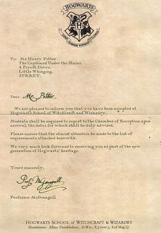 Create a letter from Hogwarts - get your magical Hogwarts ...