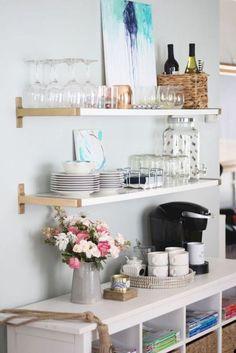 Affordable apartment coffee bar cart ideas (37)